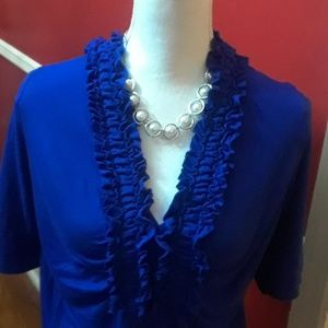 Tops - Blue Cato top size 18/20
